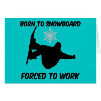 Cartes Faire du surf des neiges