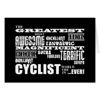 Cartes Faire du vélo de recyclage et cyclistes : Le plus
