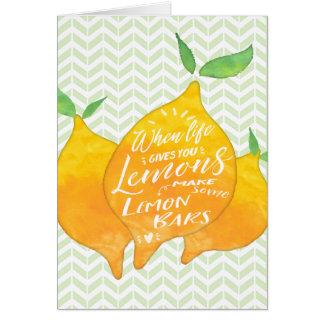 Cartes Faites les barres de citron avec le dos de recette