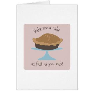 Cartes Faites-moi cuire au four un gâteau