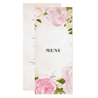 Cartes faites sur commande de menu de mariage de carton d'invitation  10,16 cm x 23,49 cm