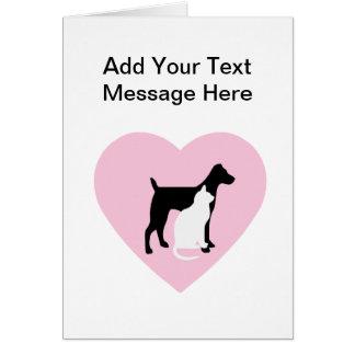 Cartes faites sur commande de soin des animaux