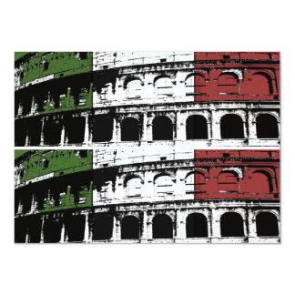 Cartes faites sur commande romaines contemporaines carton d'invitation  11,43 cm x 15,87 cm