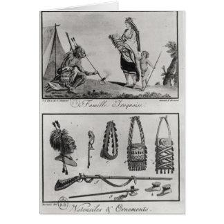 Cartes Famille, bras et ornements Iroquois