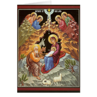 Cartes Famille sainte observée par des anges