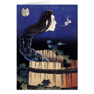 Cartes Fantôme d'Okiku - Hokusai