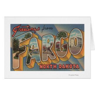 Cartes Fargo, le Dakota du Nord - grandes scènes de