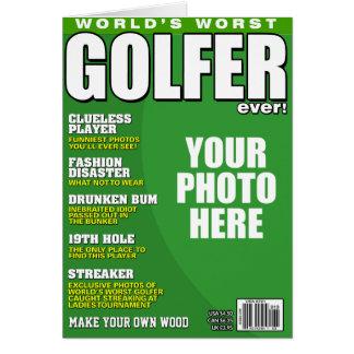 Cartes Fausse couverture de magazine de golfeur