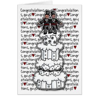 Cartes Félicitations - couples gais de mariage