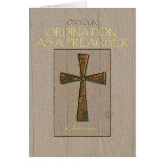 Cartes Félicitations de classification de prédicateur,