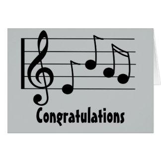 Cartes Félicitations de clef triple de notation musicale