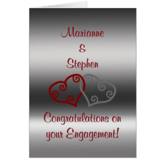 Cartes Félicitations de fiançailles, coeurs maoris