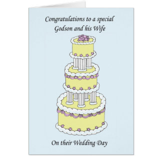 Cartes Félicitations de mariage de filleul et d'épouse