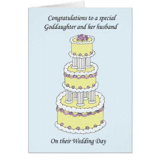 Cartes Félicitations de mariage de filleule et de mari