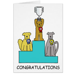 Cartes Félicitations de succès d'exposition canine
