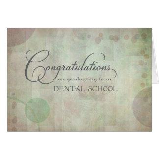 Cartes Félicitations d'école dentaire