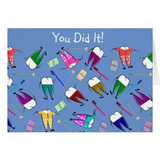 Cartes Félicitations dentaires d'obtention du diplôme