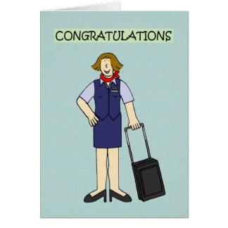 Cartes Félicitations d'équipage de cabine