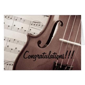 Cartes Félicitations musicales