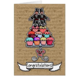 Cartes Félicitations - petits gâteaux gais de couples de