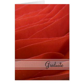 Cartes Félicitations rouges d'obtention du diplôme de