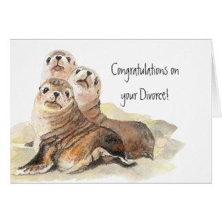 Cartes Félicitations sur des labels de divorce