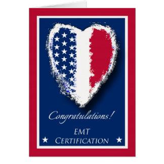 Cartes Félicitations sur la certification d'EMT,