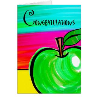 Cartes Félicitations sur la retraite de professeur, Apple