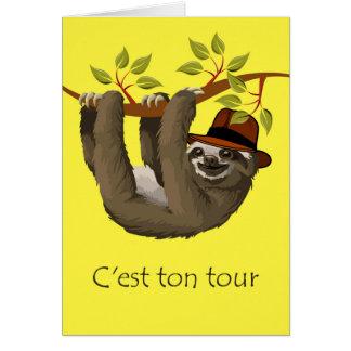 Cartes Félicitations sur la retraite en français, paresse