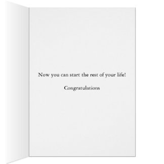 Cartes Félicitations sur le divorce, avec éclabousser le