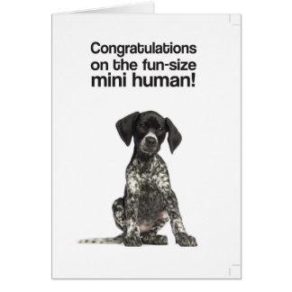 Cartes Félicitations sur le mini humain (système de