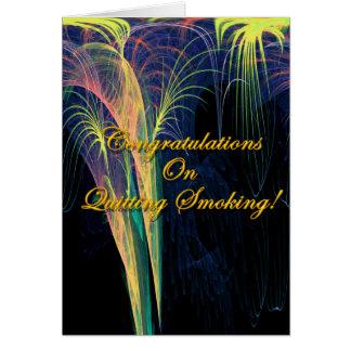 Cartes Félicitations sur stopper le tabagisme