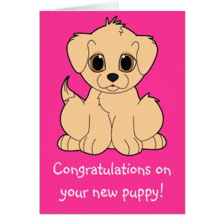 Cartes Félicitations sur votre nouveau chiot