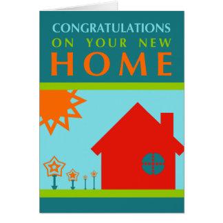 Cartes félicitations sur votre nouvelle maison (formes de