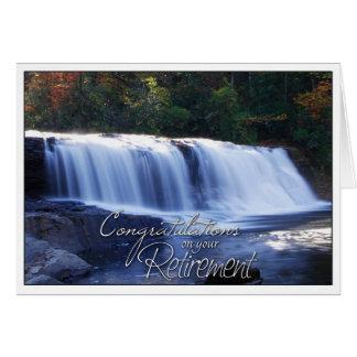 Cartes Félicitations sur votre PIC de cascade de retraite