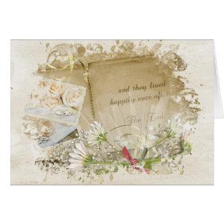 Cartes Félicitations vintages d'album de mariage