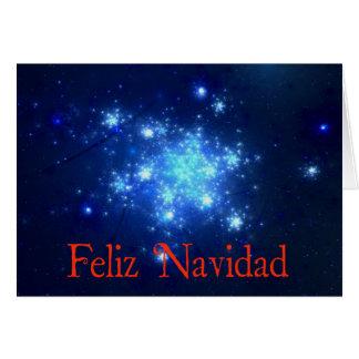 Cartes Feliz Navidad - ciel nocturne