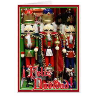 Cartes Feliz Navidad - trois biscuits sages