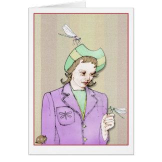 Cartes Femme de libellule