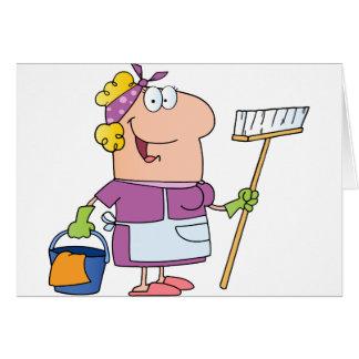 Cartes Femme de ménage de bande dessinée