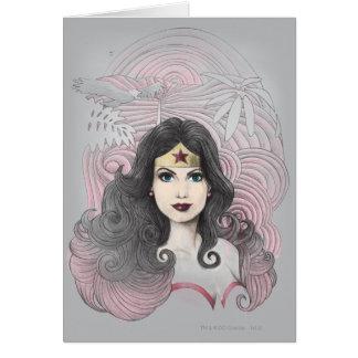 Cartes Femme de merveille Eagle et arbres