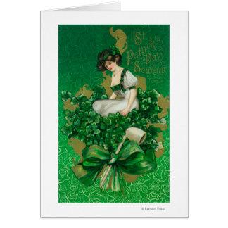 Cartes Femme de souvenir de jour de St Patrick sur la