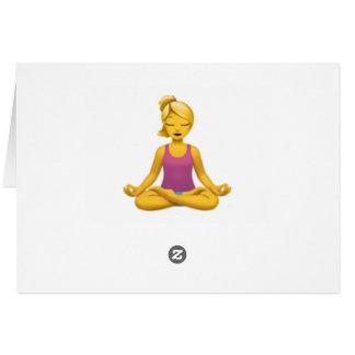 Cartes Femme en position de Lotus - Emoji
