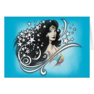 Cartes Femme et étoiles de merveille