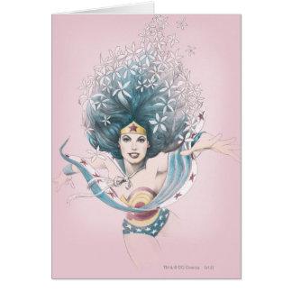 Cartes Femme et fleurs de merveille