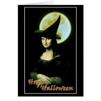 Cartes Femme Mona Lisa Halloween de Witchy