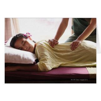 Cartes Femme recevant le massage #1