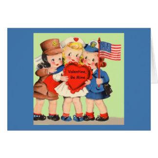 Cartes Femme soldat militaire Valentiine du 2ÈME GUERRE