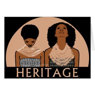 Cartes Femmes africaines avec les colliers tribaux