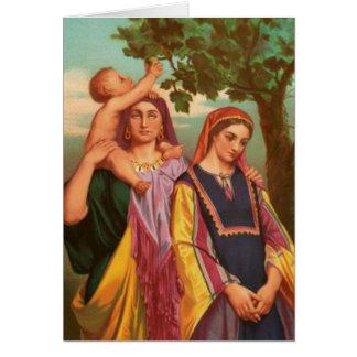Cartes Femmes dans la bible - Rachel et Leah